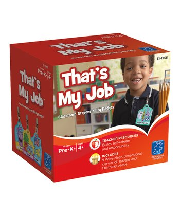That's My Job! Classroom Responsibility Badge Set