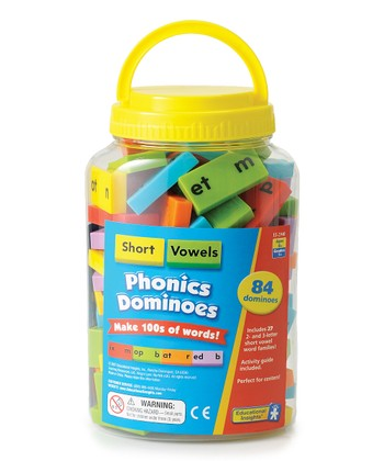 Educational Insights Short Vowel Phonics Dominoes