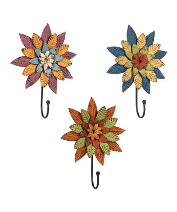Flower Wall Hook Set