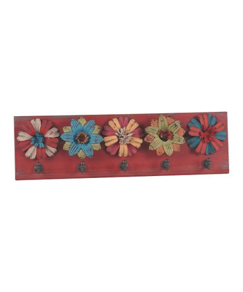Red Floral Wall Hook