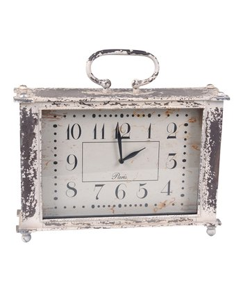 White Antiqued Clock
