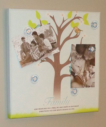 Blue 'Family Tree' Photo/Memo Board