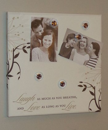 Beige 'Live Love Laugh' Photo/Memo Board
