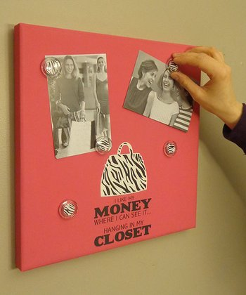 Pink 'Money' Photo/Memo Board