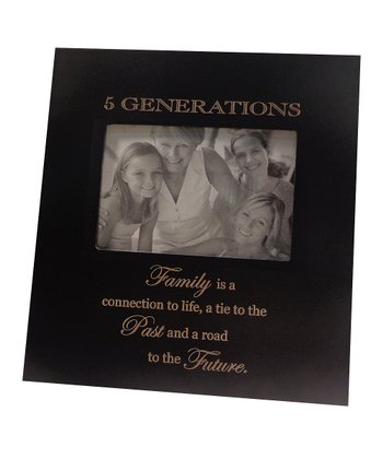 Black '5 Generations' Family Frame