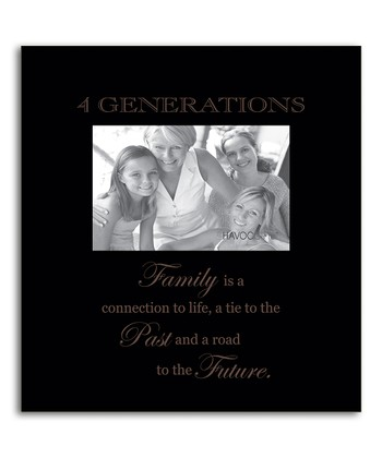 Black 'Four Generations' Frame