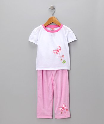 Pink Butterfly Pajama Set - Toddler