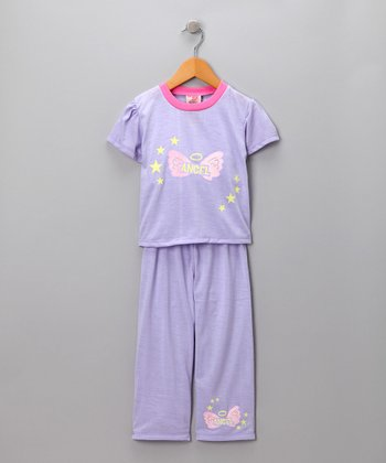 Purple Angel Pajama Set - Toddler