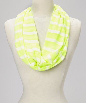 Yellow Stripe Infinity Scarf