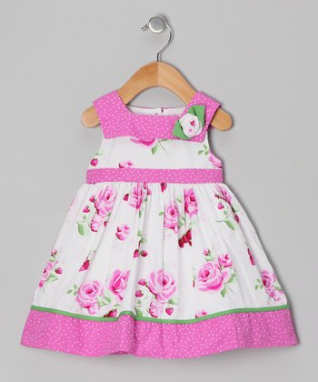 Pink Strawberry Dress - Infant & Girls