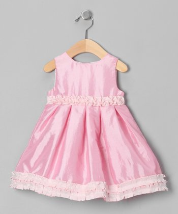 Medium Pink Floral Ruffle Dress - Infant, Toddler & Girls