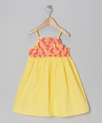 Yellow Floral Dress - Infant, Toddler & Girls