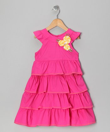 Fanta Flower Ruffle Dress - Infant, Toddler & Girls