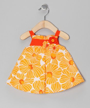 Yellow Floral Babydoll Dress - Infant, Toddler & Girls