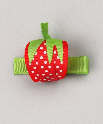 Red Strawberry Clip
