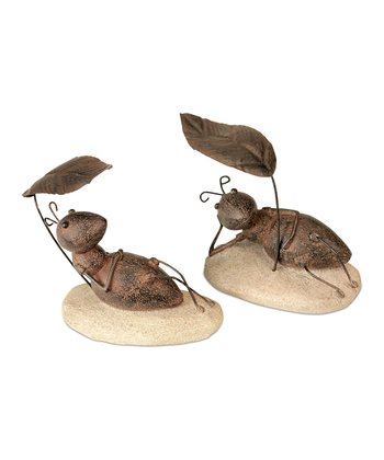 Ant & Leaf Shade Figurine Set