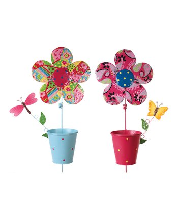 Flower Bucket Stake Set