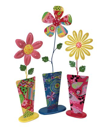 Flower & Vase Figurine Set
