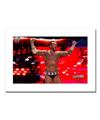19'' CM Punk Victory Canvas Art