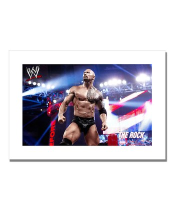 19'' The Rock What's Cooking Canvas Art