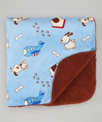 Blue Dogs Blanket