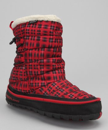 Red Plaid Radler Insulated Boot