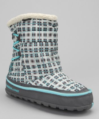 Gray & Blue Plaid Radler Insulated Boot
