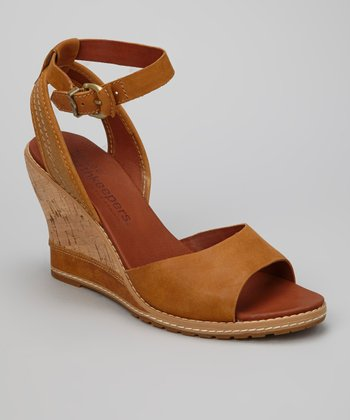 Burnt Orange Ankle-Strap Maesln Sandal