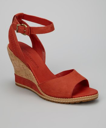 Dark Red Ankle Strap Maesln Sandal