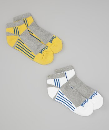 Yellow & Gray Stripe Low Rider Socks Set