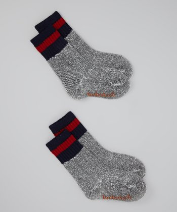 Gray & Red Boot Socks Set