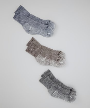 Charcoal Crew Socks Set