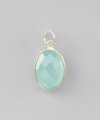 Sea Green Chalcedony & Sterling Silver Pendant