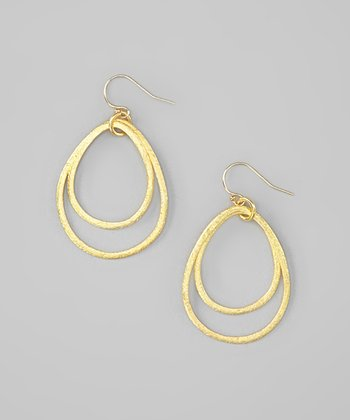 Gold Callie Teardrop Earrings