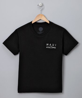 Black Classic Cookie Tee - Boys