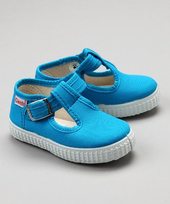 Light Blue T-Strap Shoe