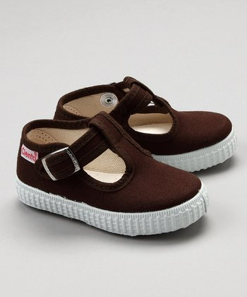 Brown T-Strap Shoe