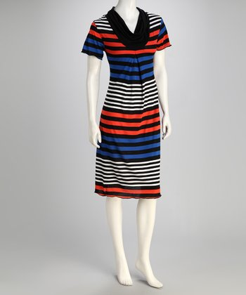 Red & Blue Stripe Dress