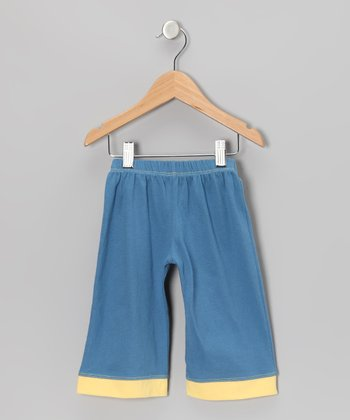 Indigo & Sunshine Yellow Organic Pants - Infant