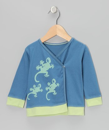 Indigo Gecko Organic Long-Sleeve Wrap Top - Infant