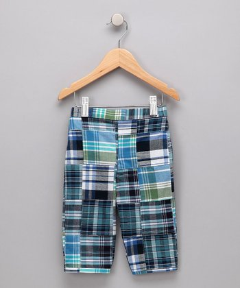 Blue & Black Madras Capri Pants - Toddler & Girls