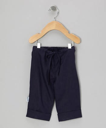 Navy Linen Pants - Infant