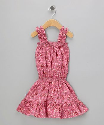 Pink Blossom Ruffle Dress - Infant