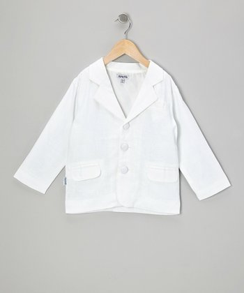 White Linen Jacket - Boys