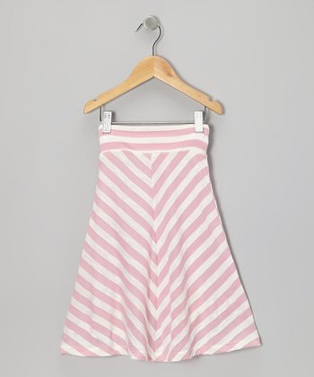 Pink & Off-White Chevron Skirt - Infant, Toddler & Girls