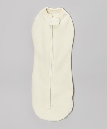 Cream Winter Woombie Zipper Swaddle