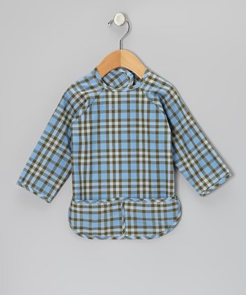 Blue Plaid Bib - Infant & Toddler