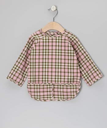 Pink Plaid Bib - Infant & Toddler