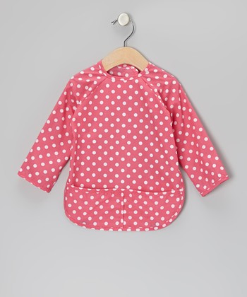 Pink Polka Dot Bib - Infant & Toddler