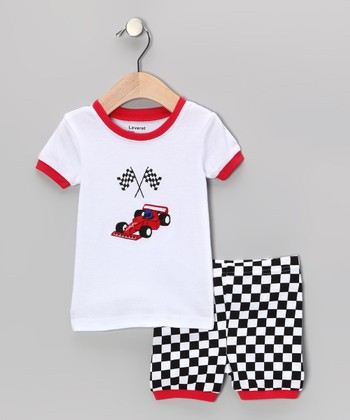 Red & Black Race Car Pajama Set - Infant, Toddler & Kids